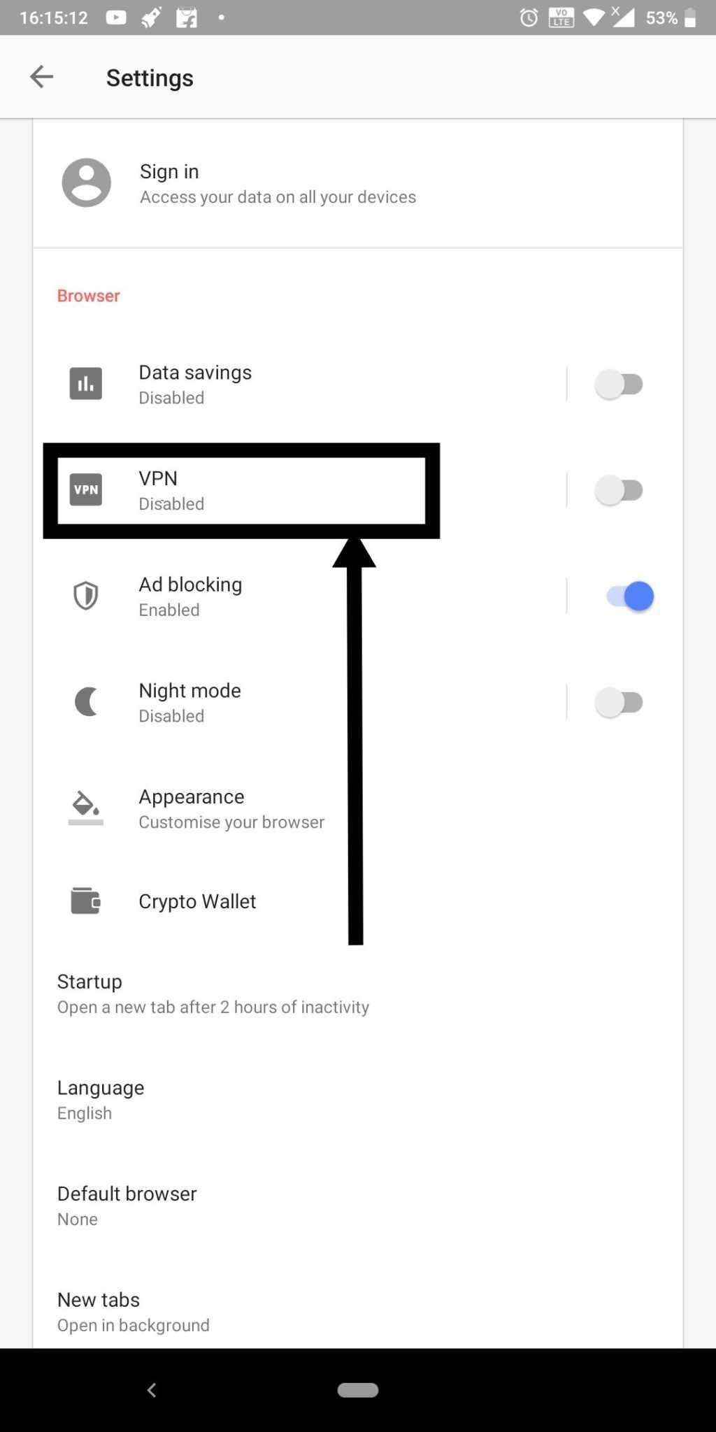 Opera VPN 7
