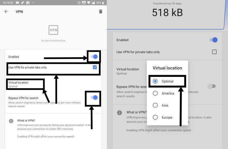 Opera VPN 8-9