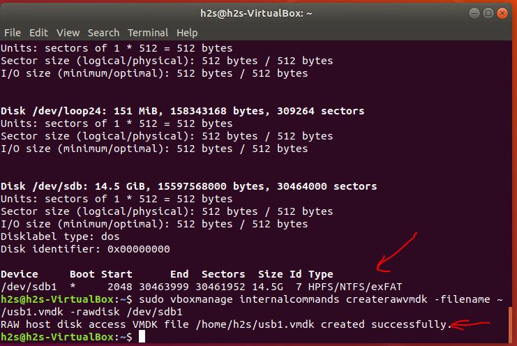 Ubuntu Virtualbox virtual machine USB boot