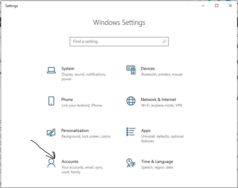 Windows 10 accounts
