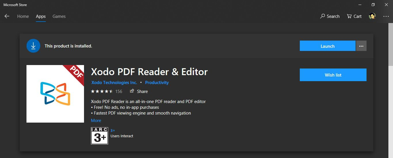 Xodo PDF editor free for Windows 10