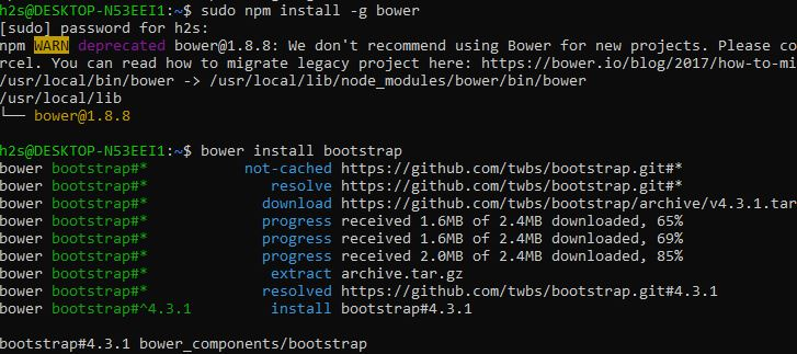 bower install bootstrap