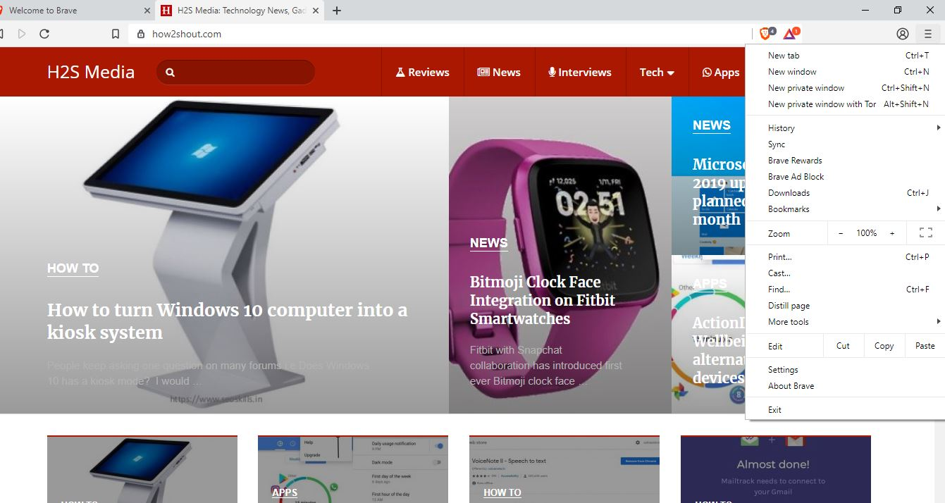 brave open source browser for Windows