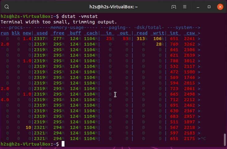 dstat command usage