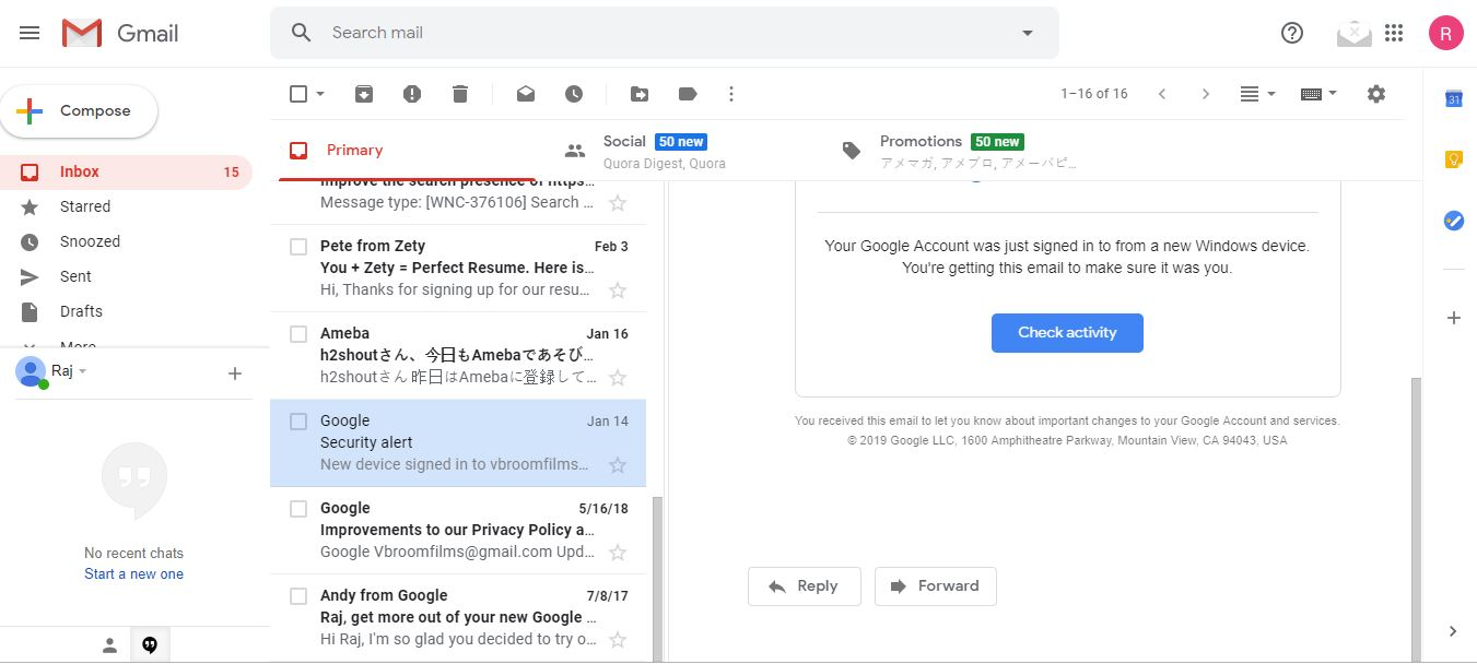 enable the preview pane on Gmail