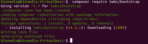 install bootstrap on ubuntu using composer
