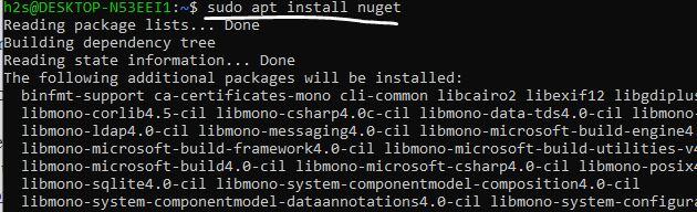 install nuget on Ubuntu linux