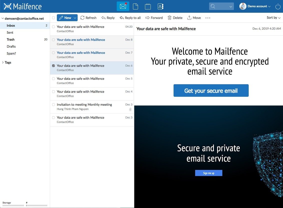 mailfence email min