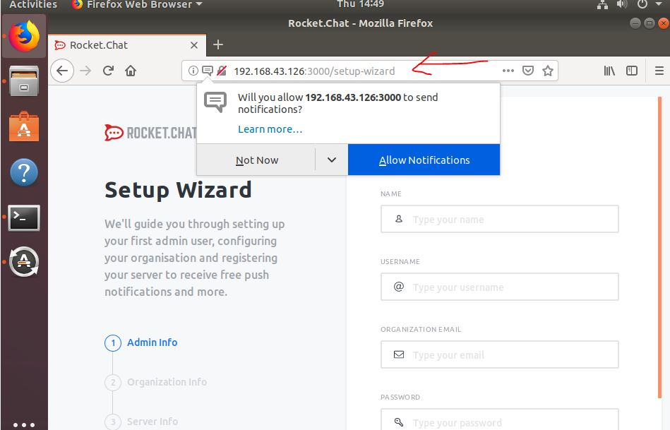 rocket installed on Debian