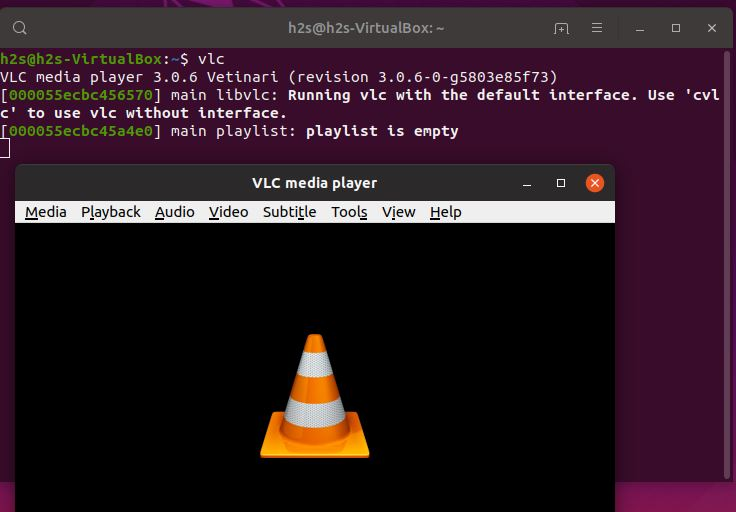 running VLC on ubuntu using command terminal