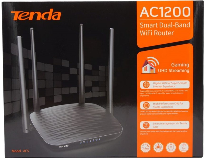 tenda AC5 AC1200 router review
