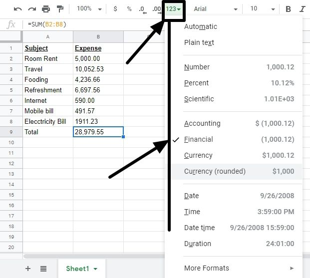 Approximation on Google Sheets 2