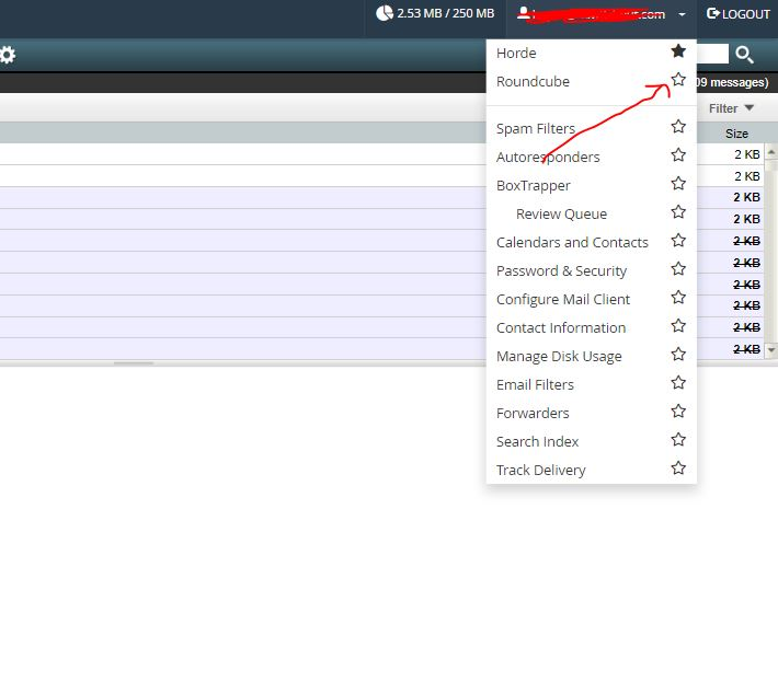 Change deault webmail client on Cpanel
