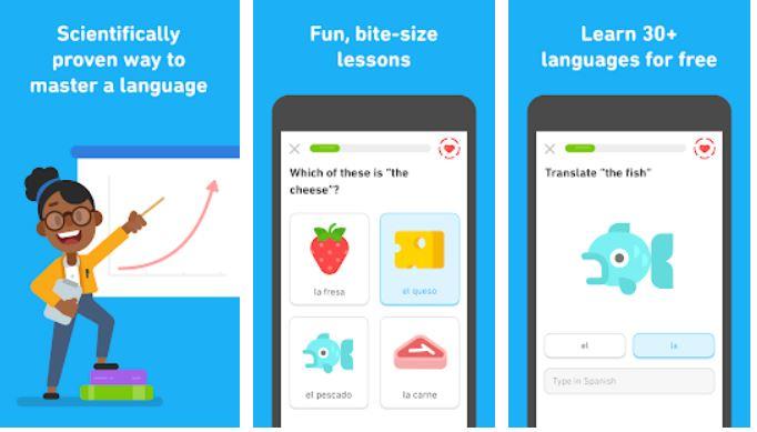 Duolingo meilleures applications d'apprentissage des langues