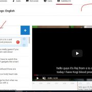 Edit the transcription Youtube and publish