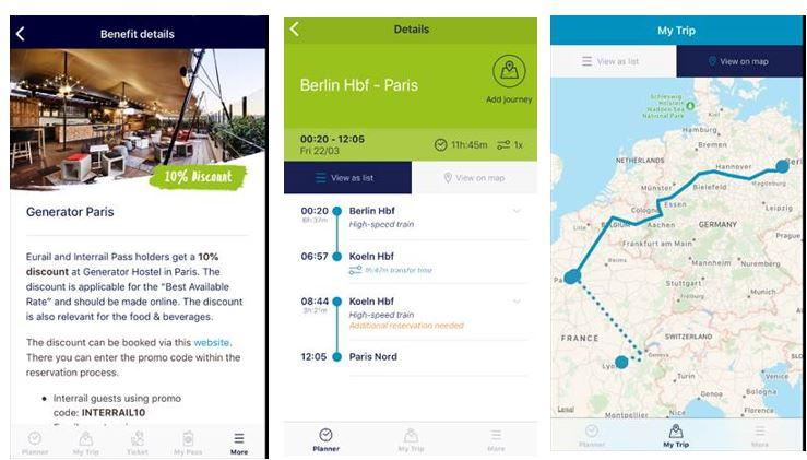 Eurail rail app