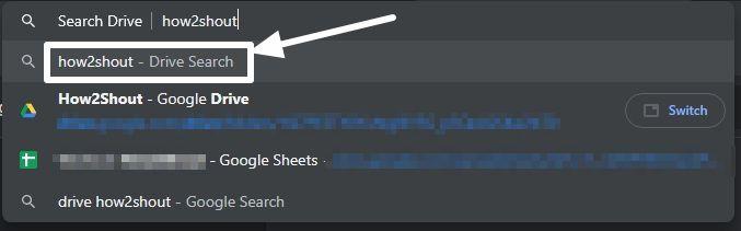 Google Drive files Omnibox