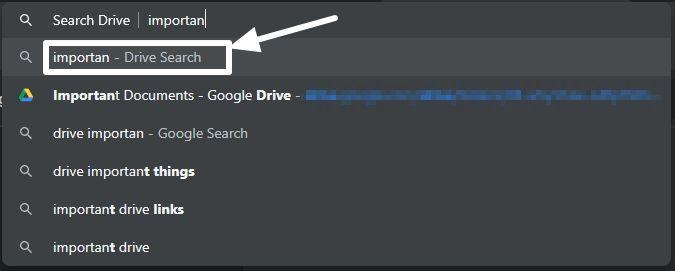 Google Drive files in address bar 6