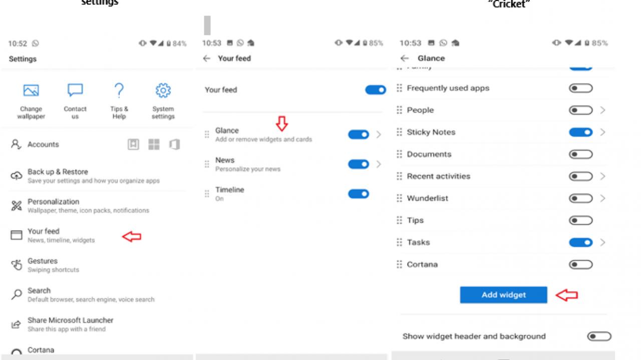 Microsoft released a cricket widget on its Microsoft