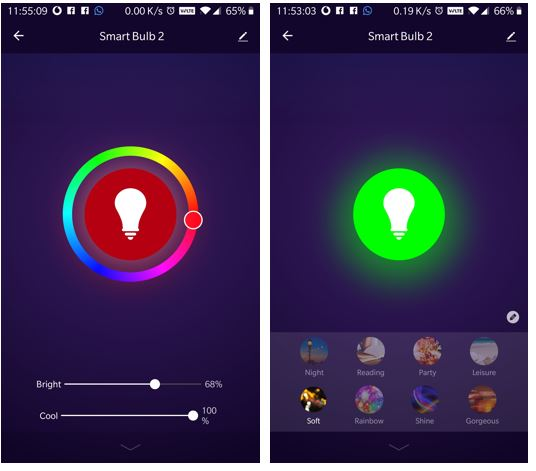Preset colour mode Syska LED smart