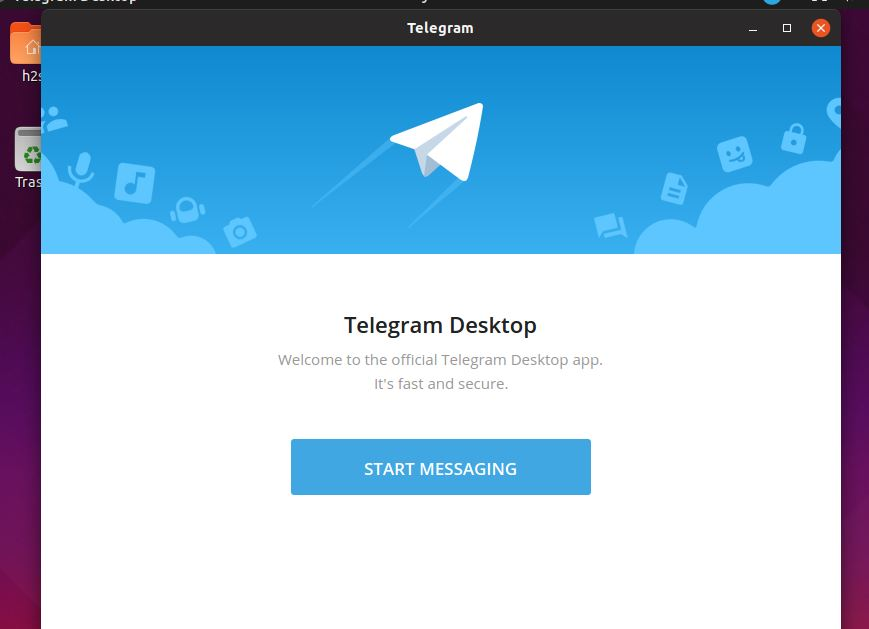 Start telegram messagin ubuntu linux mint