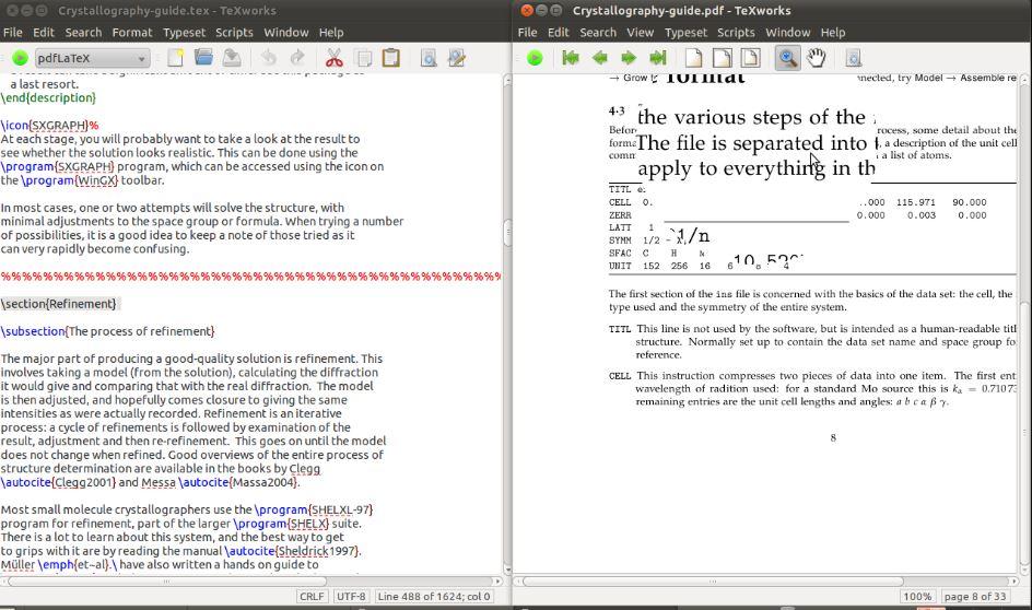 TeX Works LaTex editor
