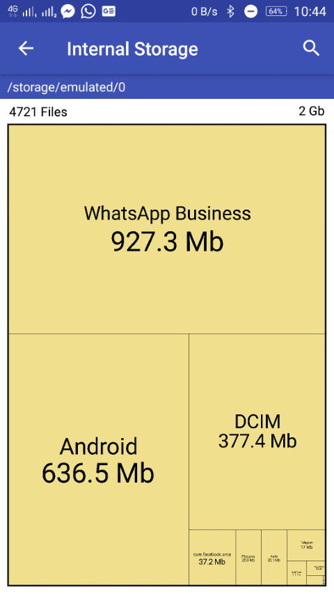 Storage Map app disk space analyzer for Android