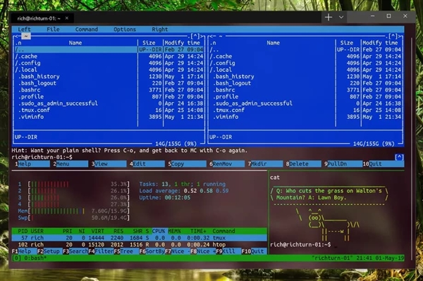 Windows terminal interface