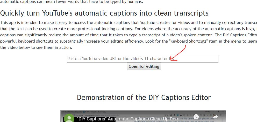 YouTube's automatic captions into clean transcripts
