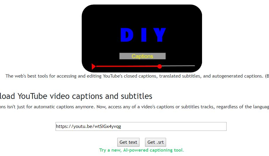 download youtube captions subtitles