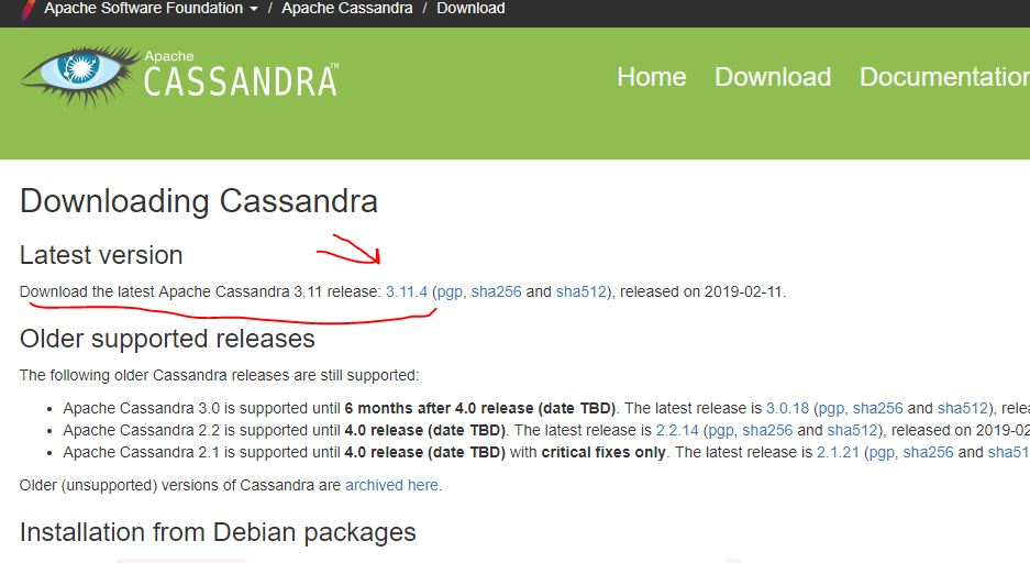 download and set apache cassandra