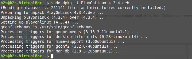 how to use Playonlinux on Linux mint or Ubuntu