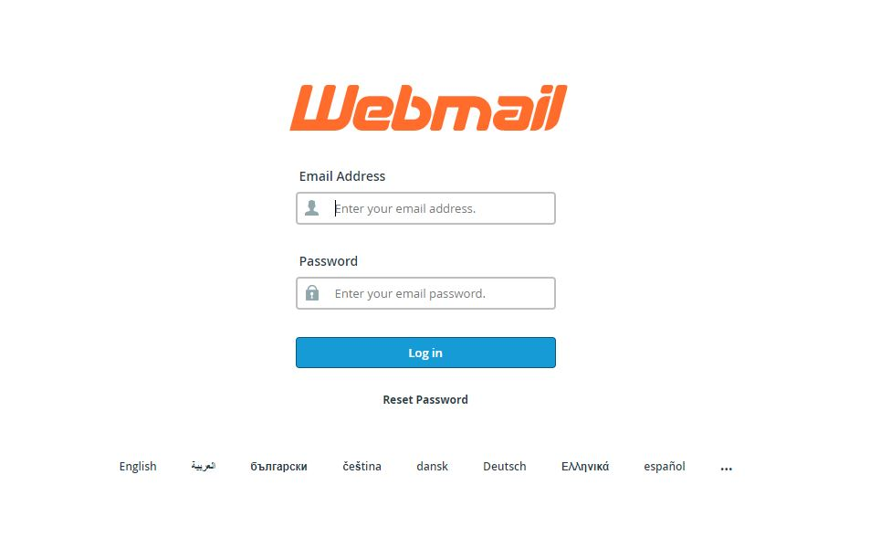 roundcube webmail login cpanel