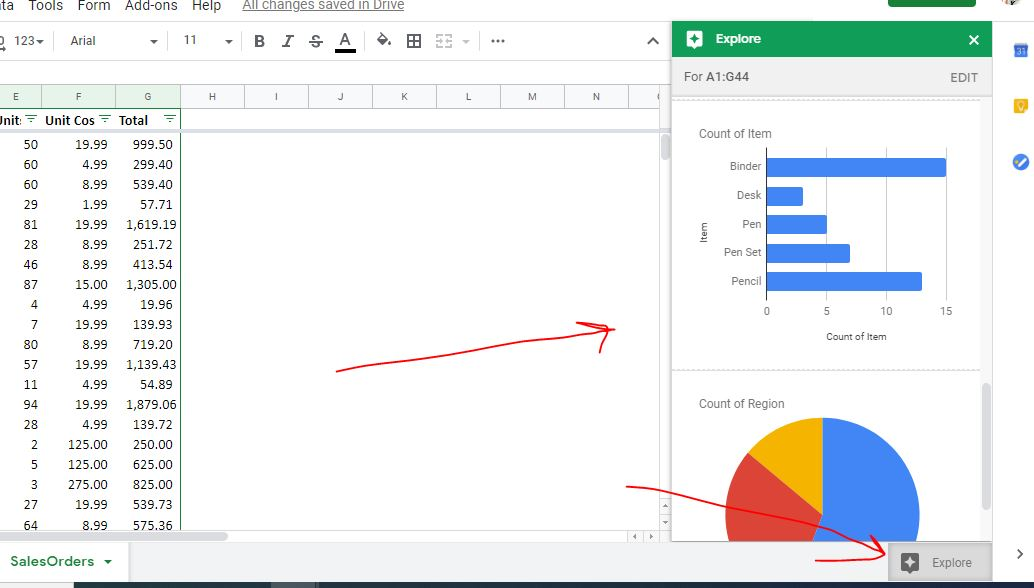 Auto generation of Graphs and Charts on Google Sheets