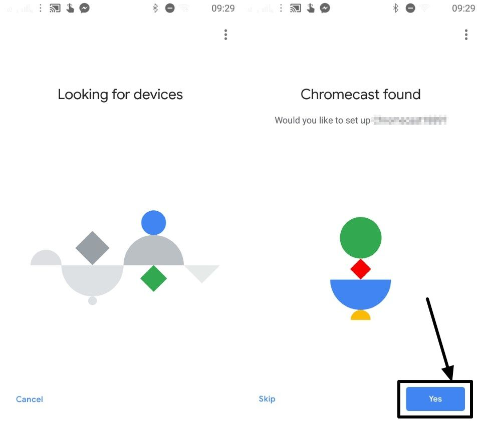 Google Home has found a Chromecast nearby