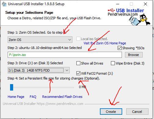 Create a bootable Zorin OS USB drive