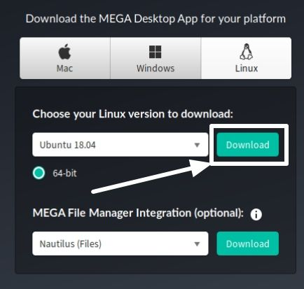 Download MEGAsync for Linux