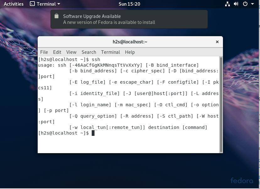 Install SSH server in Fedora Linux