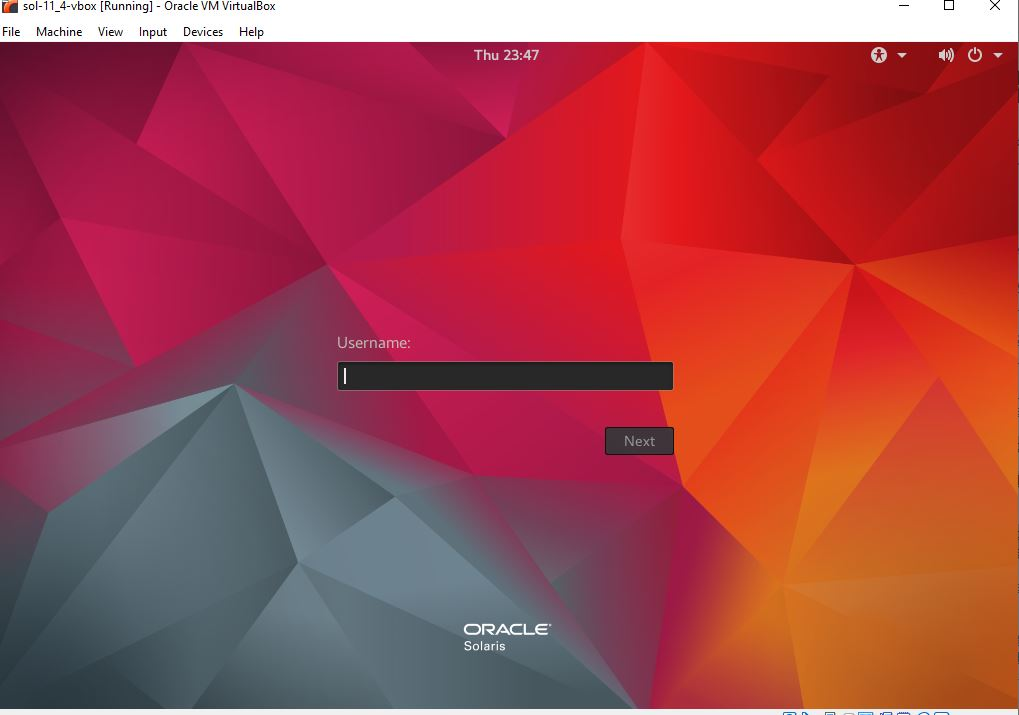 solaris virtualbox image