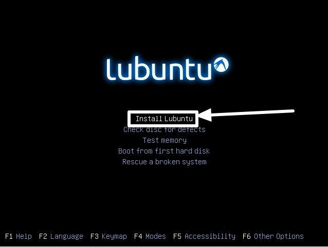 Install Lubuntu