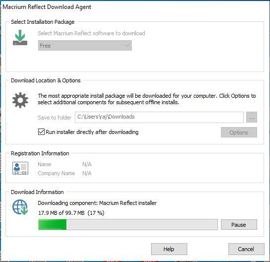 Macrium Reflect Download Agent