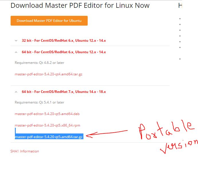 Master PDF Editor for Linux portable version