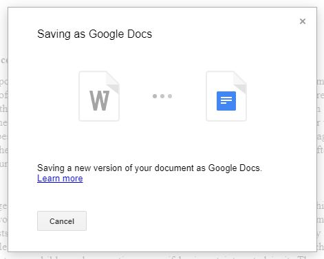Microsoft Office to Google Docs 4