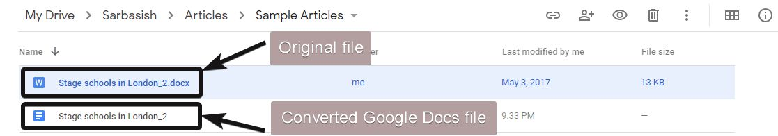 Microsoft Office to Google Docs 5