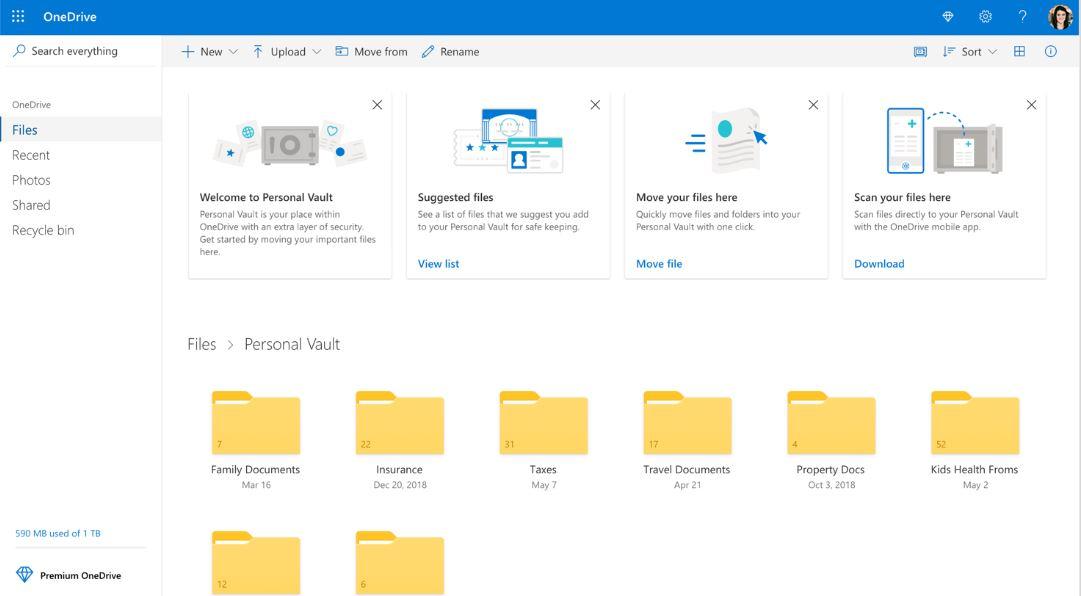 Microsoft Windows 10 OneDrive-Personal-Vault