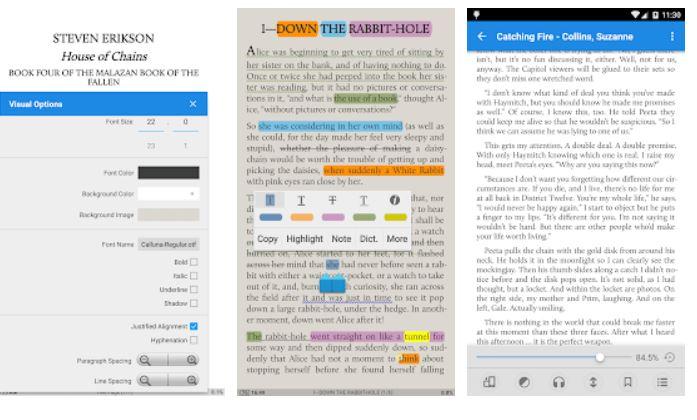 Moon+ Reader book reading app