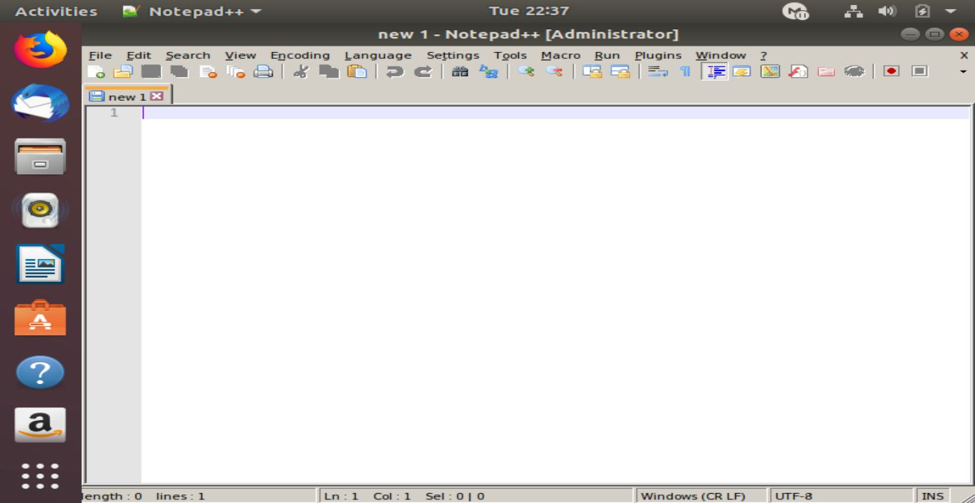 Notepad++ on Linux 3