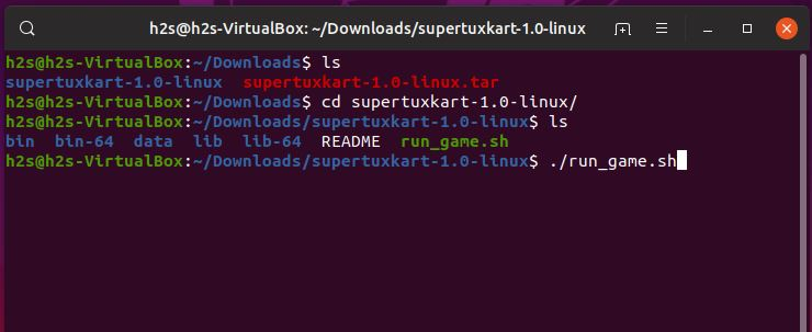 Run SuperTuKart Script file to Install it