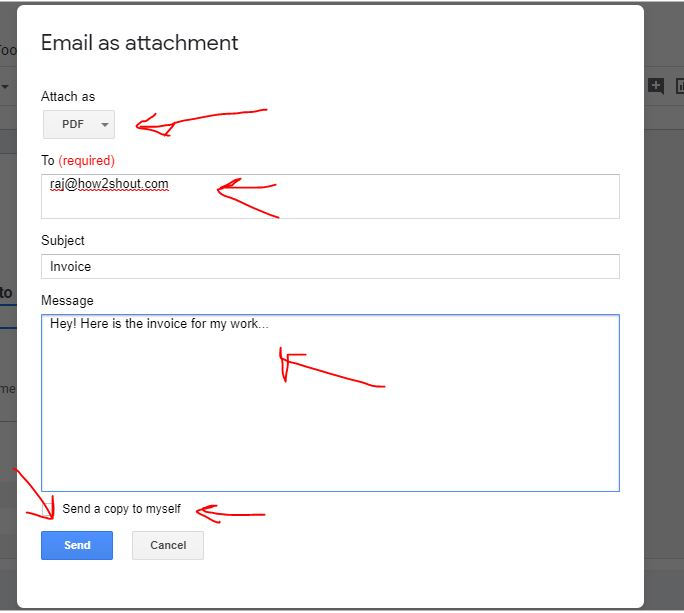 Send invoice directly as Email attachment