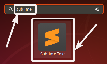 Starting Sublime Text 3